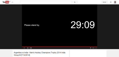 Argentina vs India   Men s Hockey Champions Trophy 2014 India Group B  7 12 2014    YouTube
