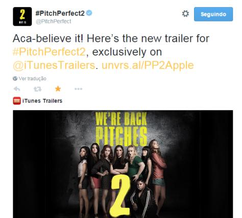 Tweet oficial divulgando o novo Trailer