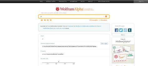 pi   Wolfram Alpha